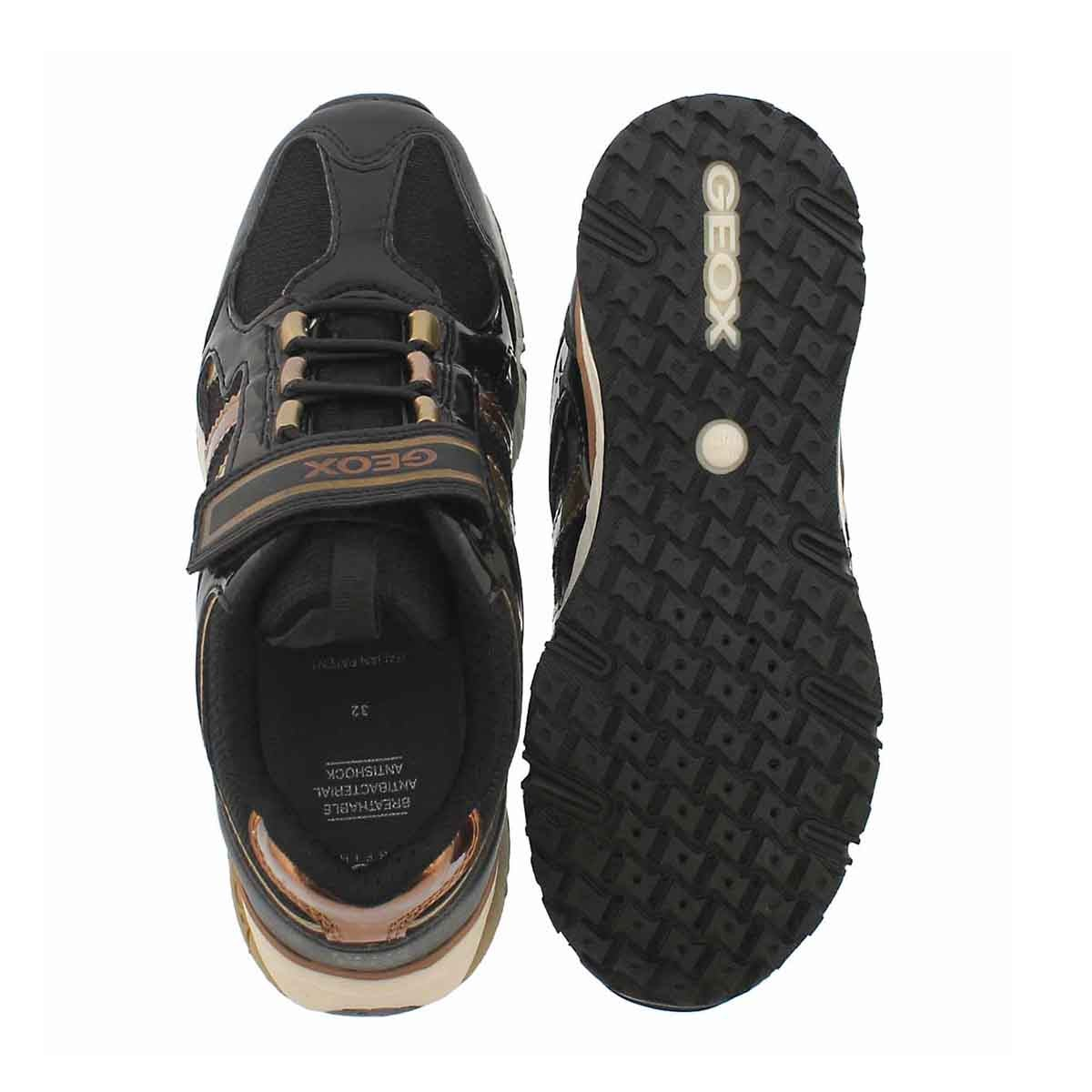 Grls Bernie black/bronze sneakers