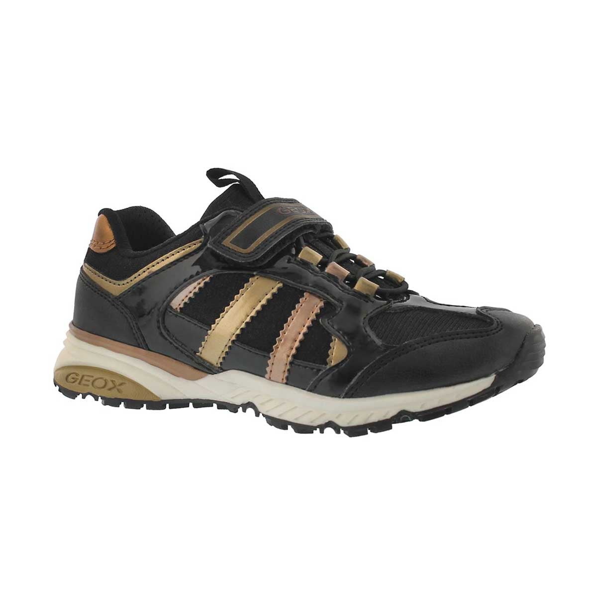 Girls' BERNIE black/bronze sneakers