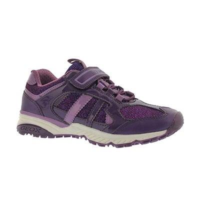 Grls Bernie prune/lavender sneakers