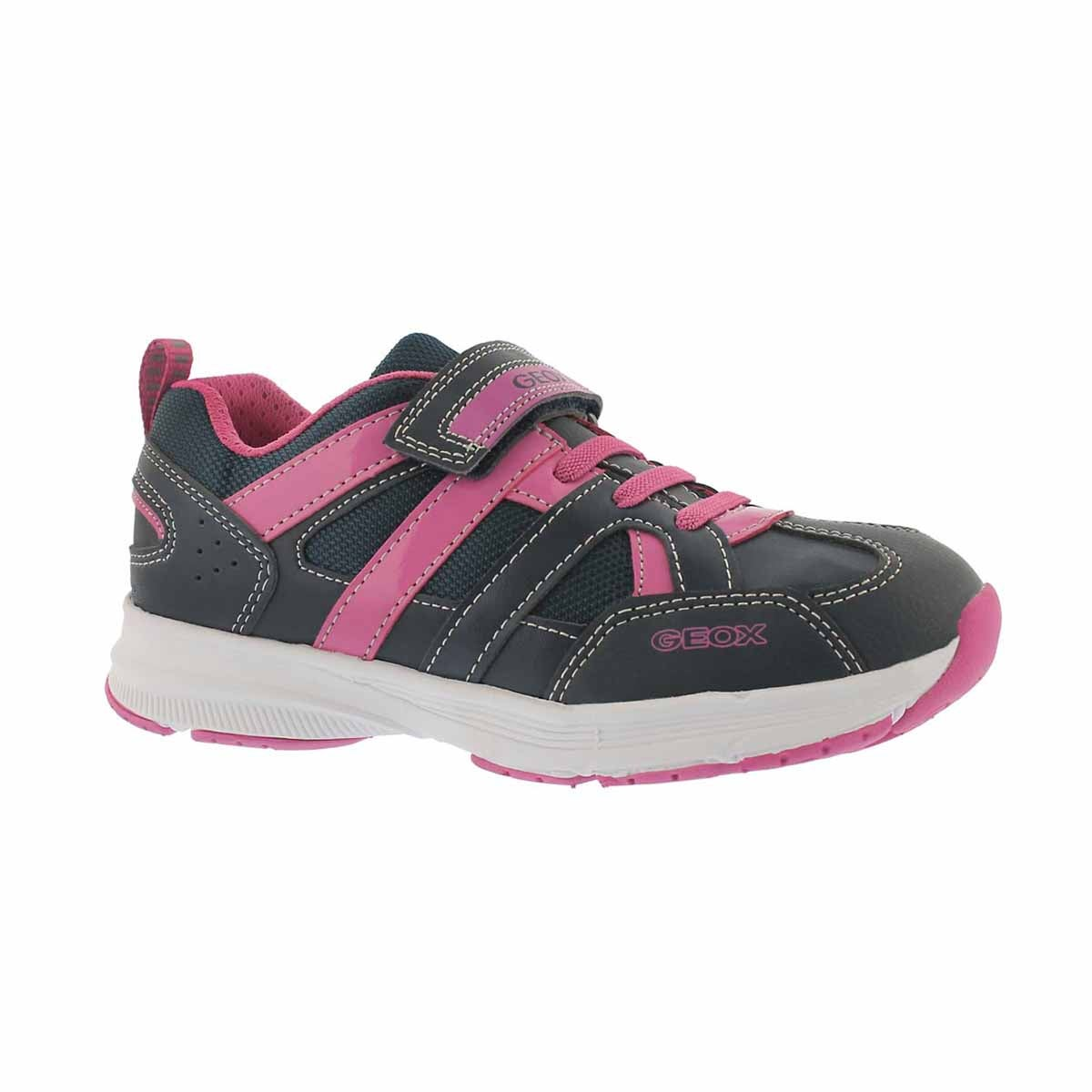 Girls' TOP FLY navy/fuchsia running shoes