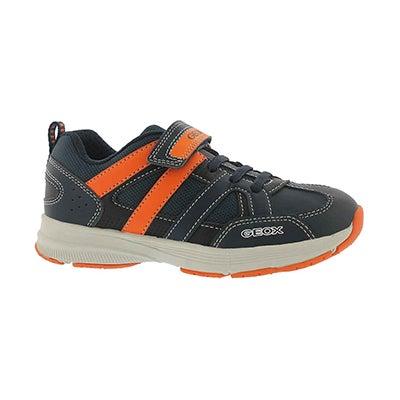 Bys Top Fly navy/orange sneakers