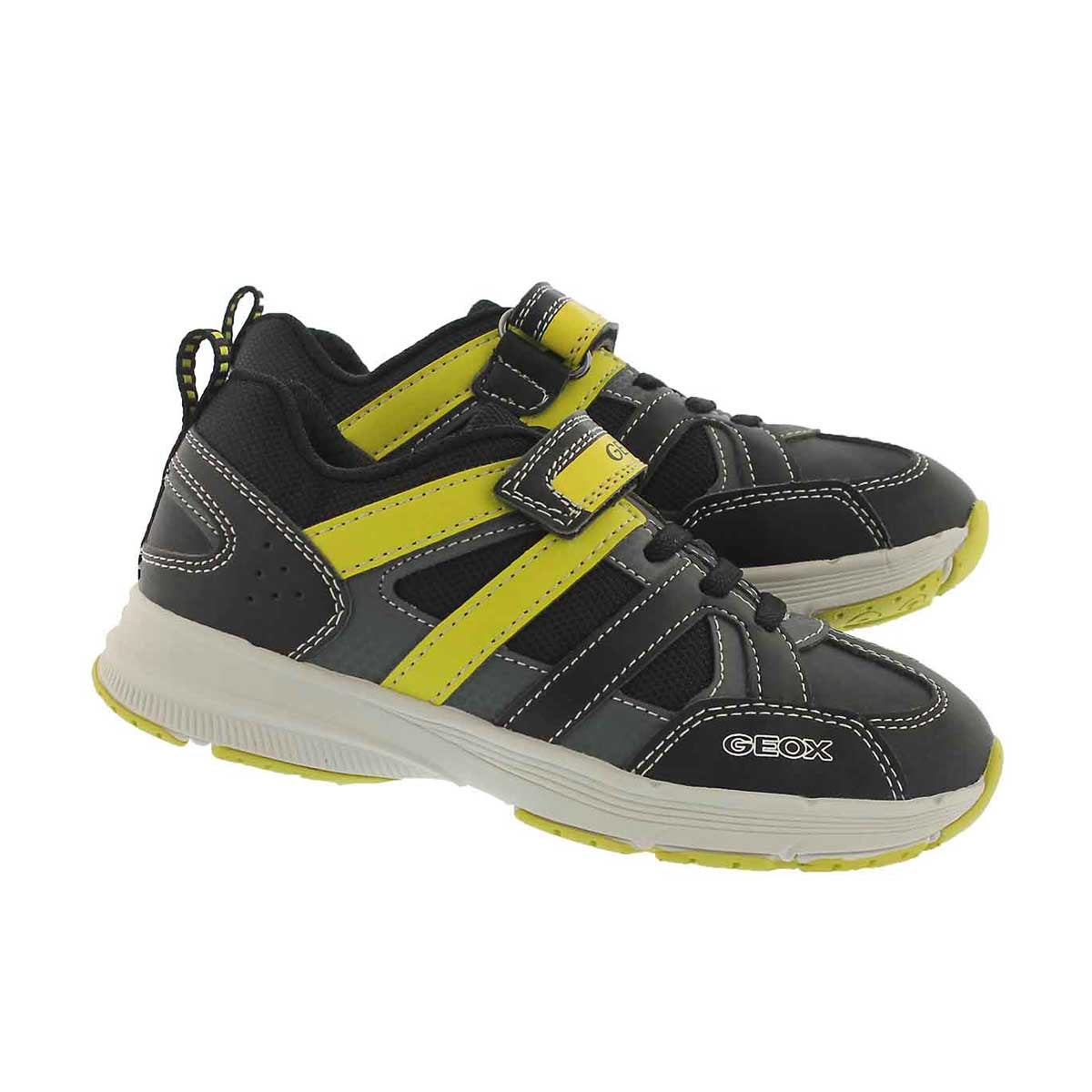 Bys Top Fly black/lime running shoe
