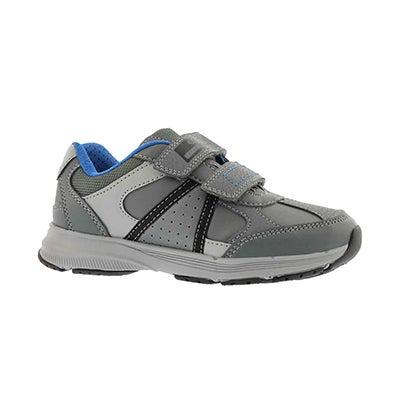 Bys Top Fly dk grey 2 strap sneaker