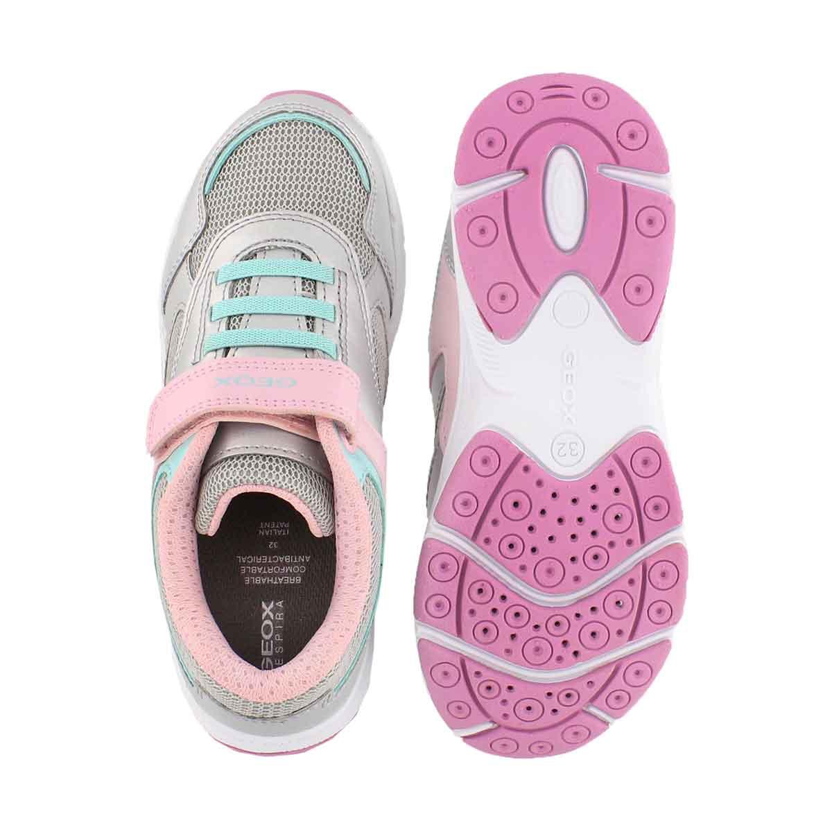 Grls J Hoshiko slvr/pnk sneaker