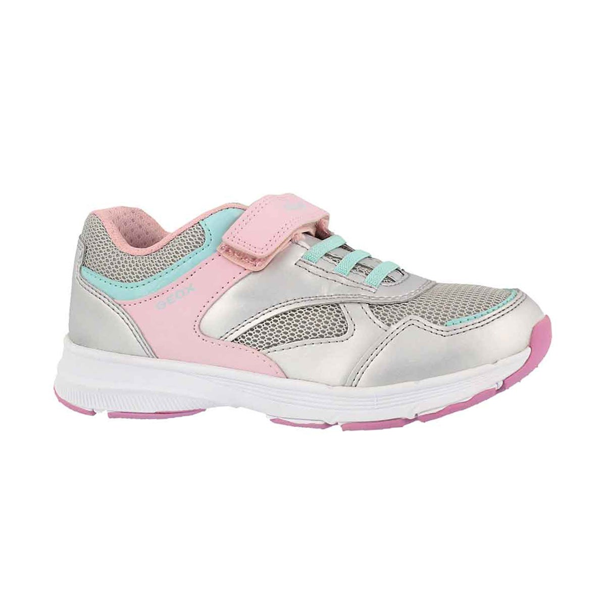 Girls' J HOSHIKO silver/pink sneakers