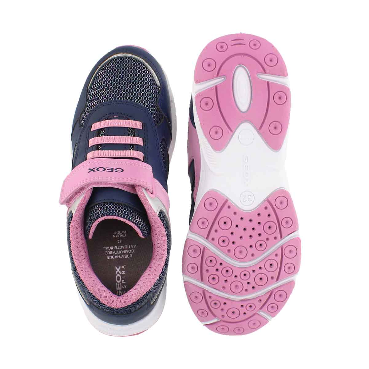 Grls J Hoshiko nvy/pnk sneaker