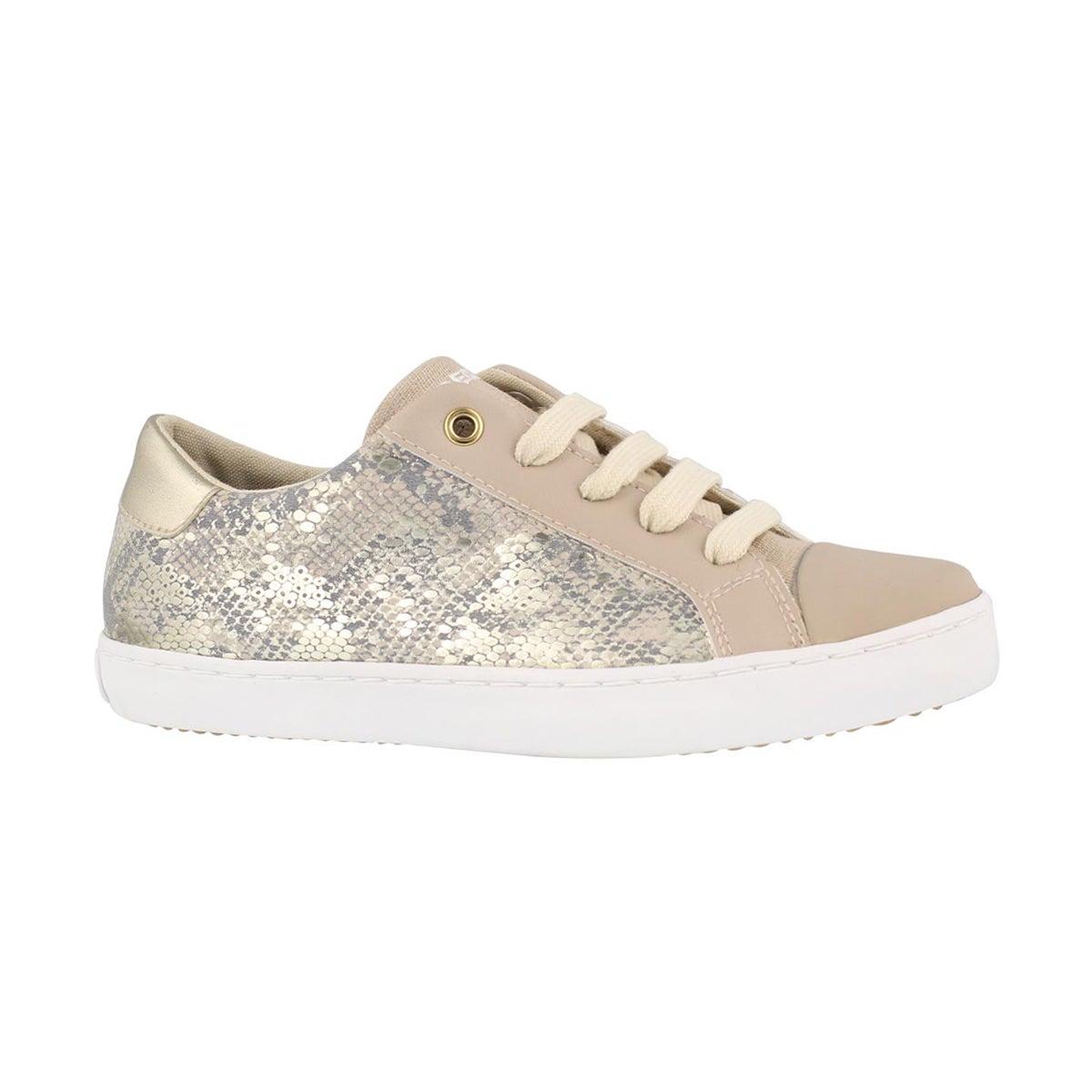 Girls' J GISLI beige sneakers