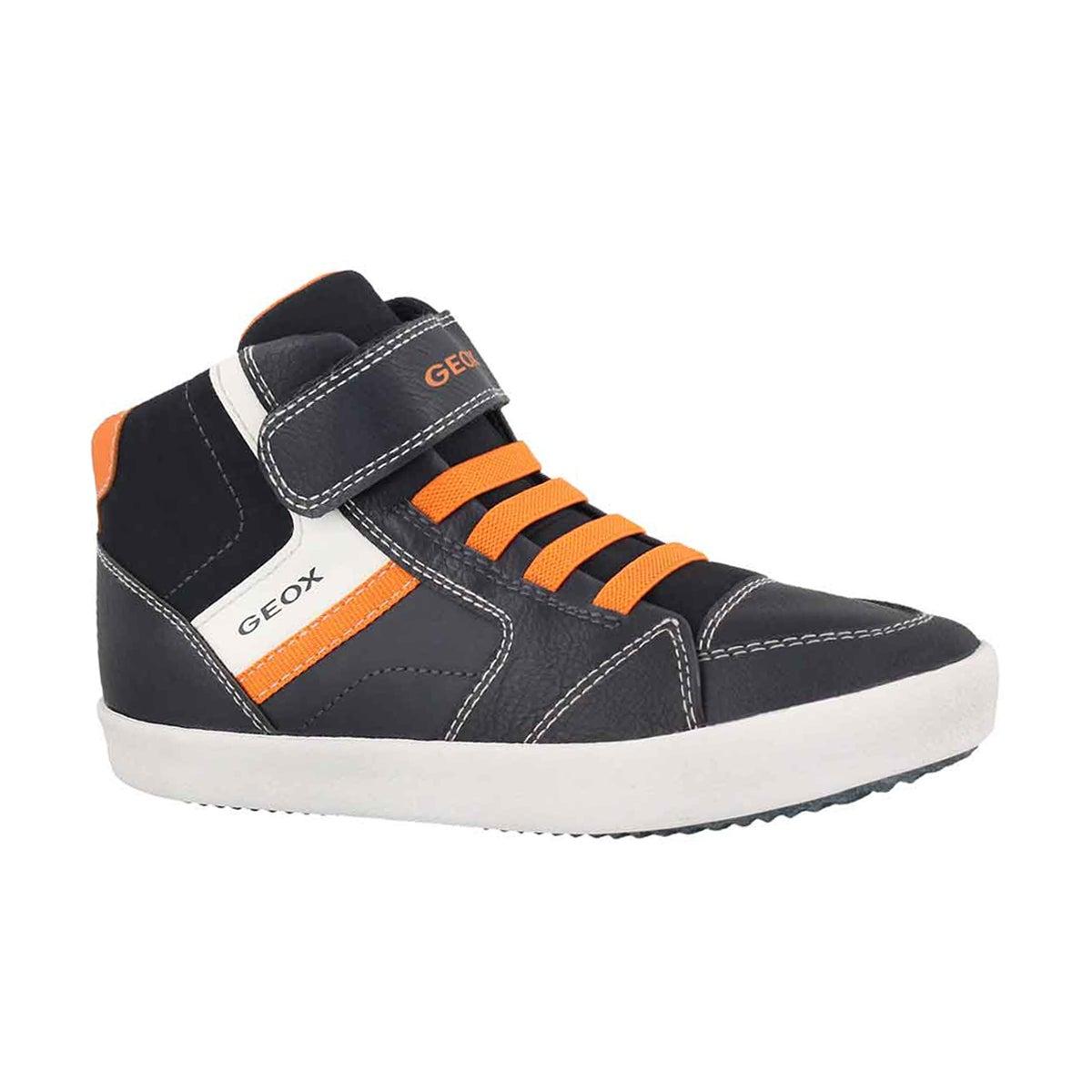 e02b76723 Boys  J GISLI HI navy orange sneakers