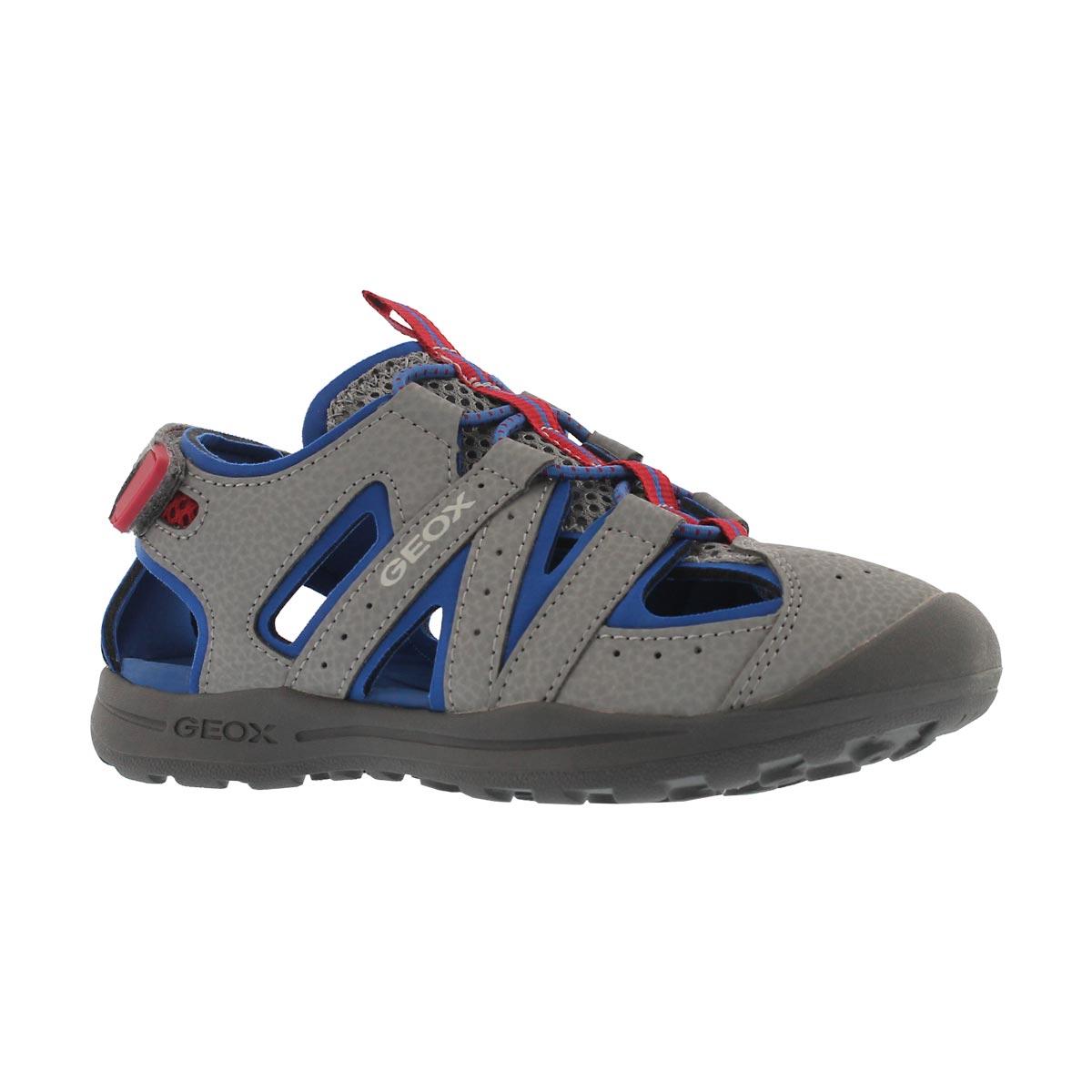 Boys' VANIETT grey/royal fisherman sandals