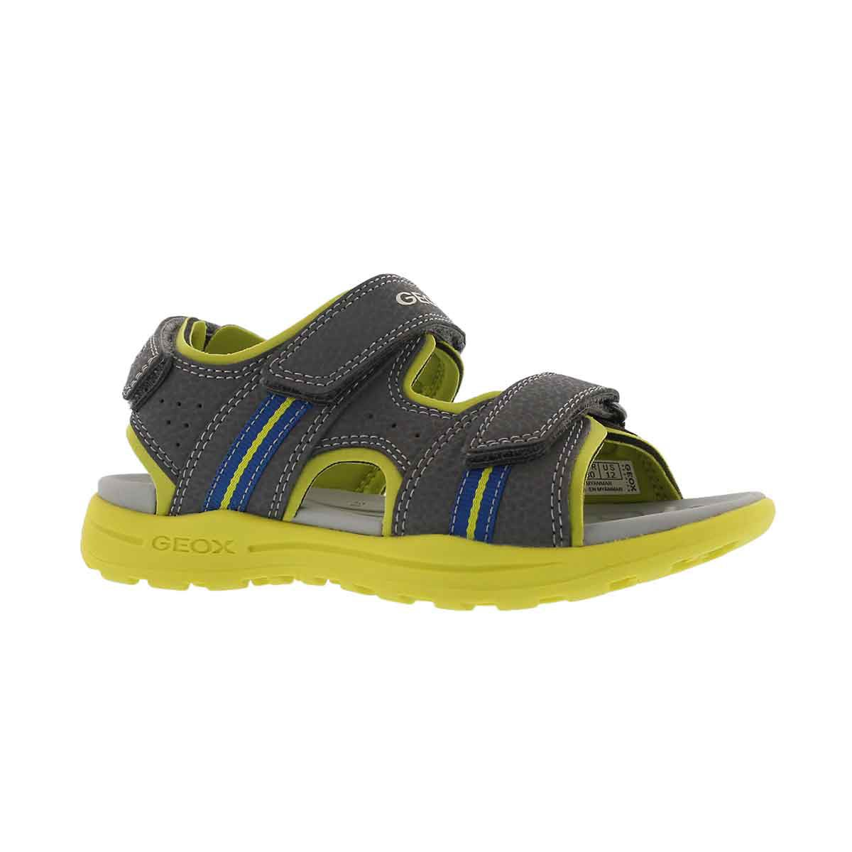 Boys' VANIETT dark grey/lime sport sandals