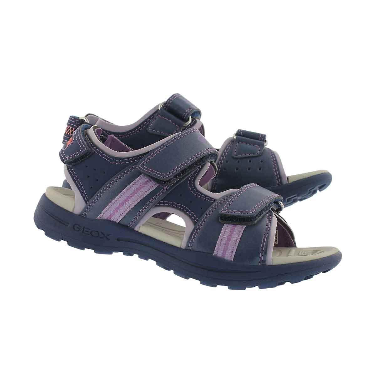 Grls Vaniett nvy/lilac casual sandal