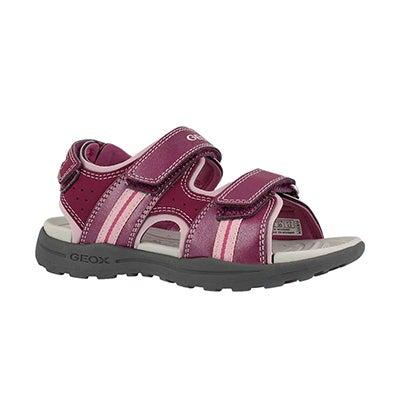 Grls Vaniett lt fuschia casual sandal