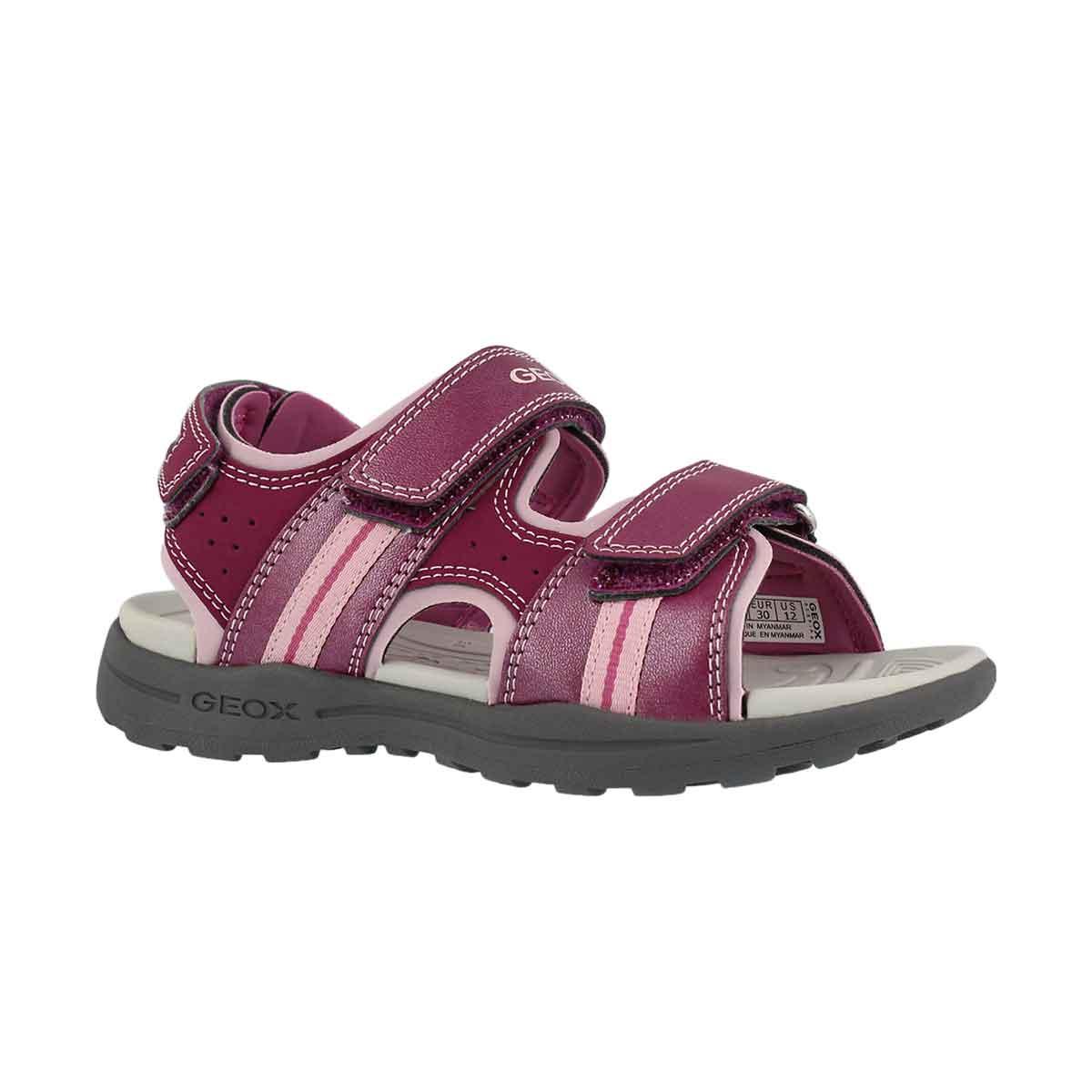 Girls' VANIETT light fuschia casual sandals