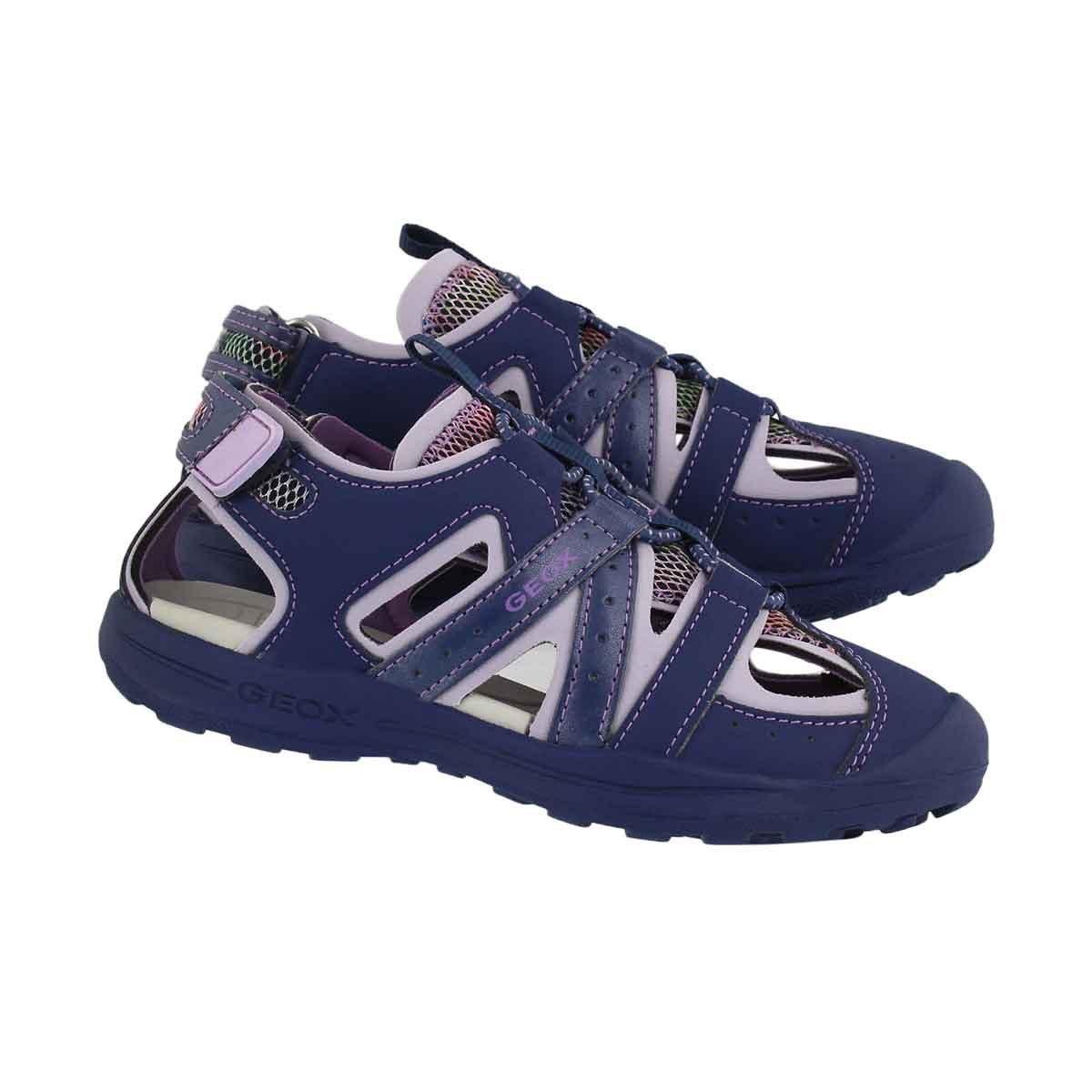 Grls Vaniett nvy/lilac fisherman sandal