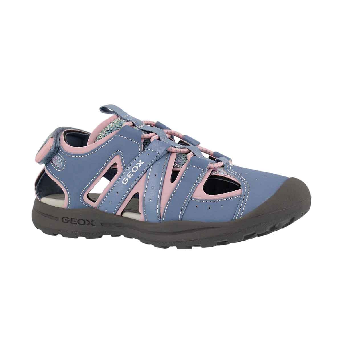 Girls' VANIETT sky/ pink fisherman sandals