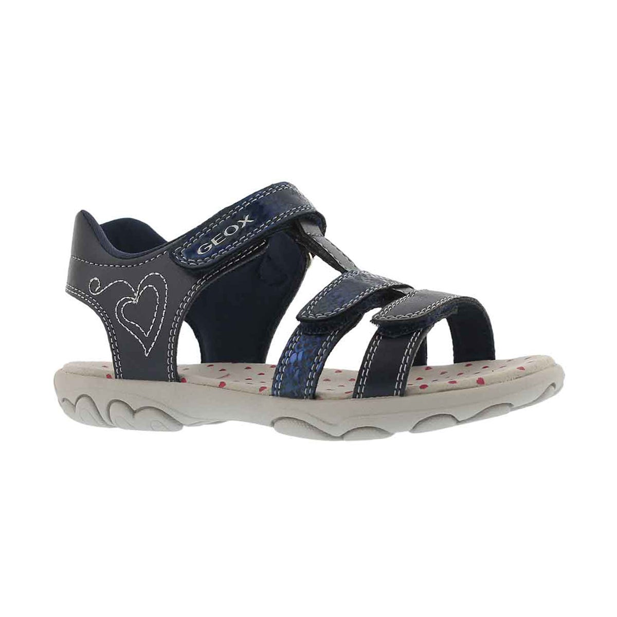 Girls' JR CUORE navy casual sandals