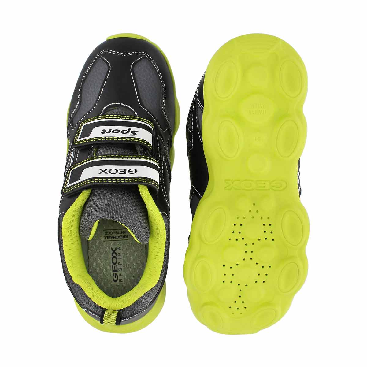 Bys Munfrey black/lime sneaker