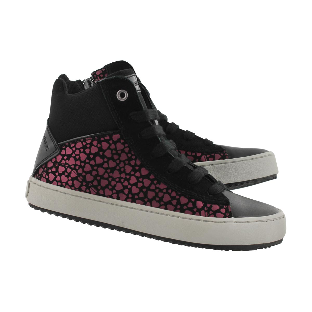Grls Kalispera blk high top sneaker