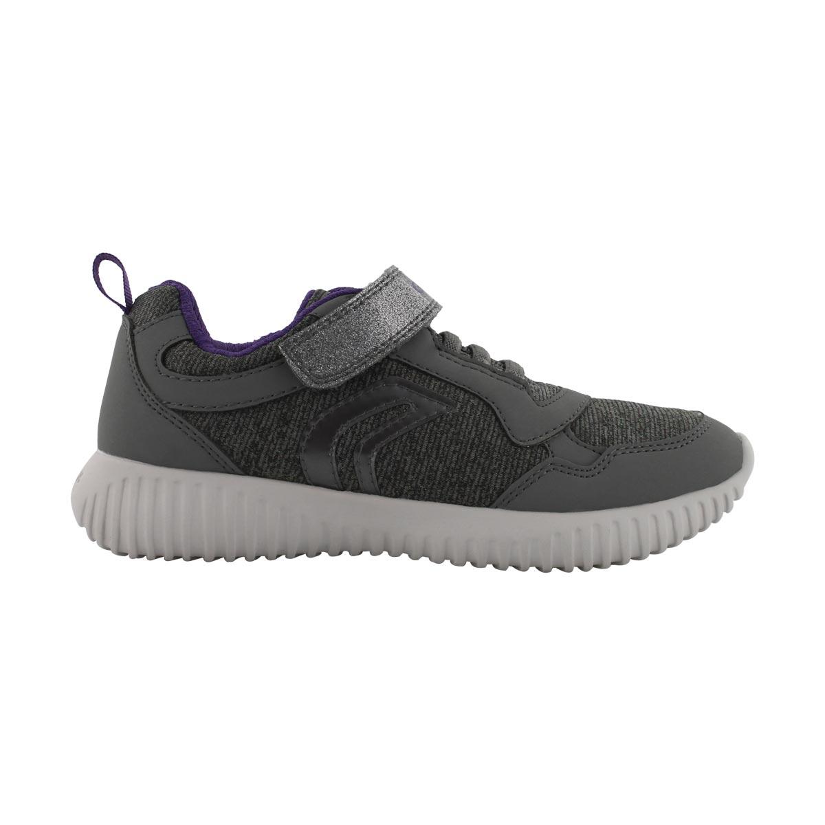 Grls Waviness B gry/vio strap sneaker