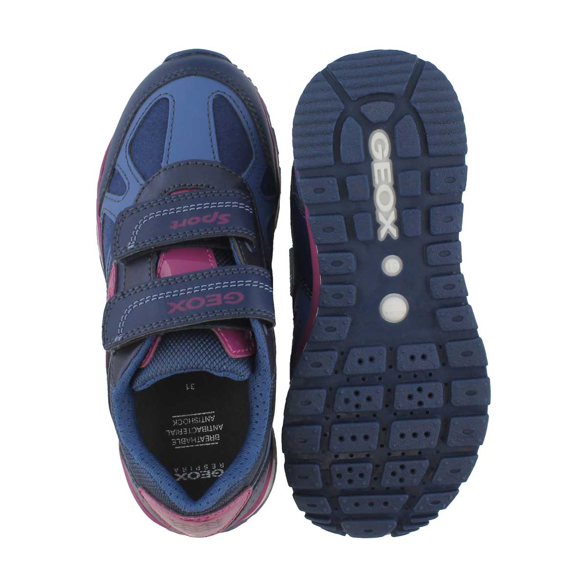 Grls Pavel A nvy/fus 2 strap sneaker