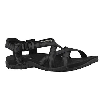 Lds Terran Ari Lattice blk sport sandal