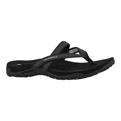 Lds Terran Ari Post blk thong sandal