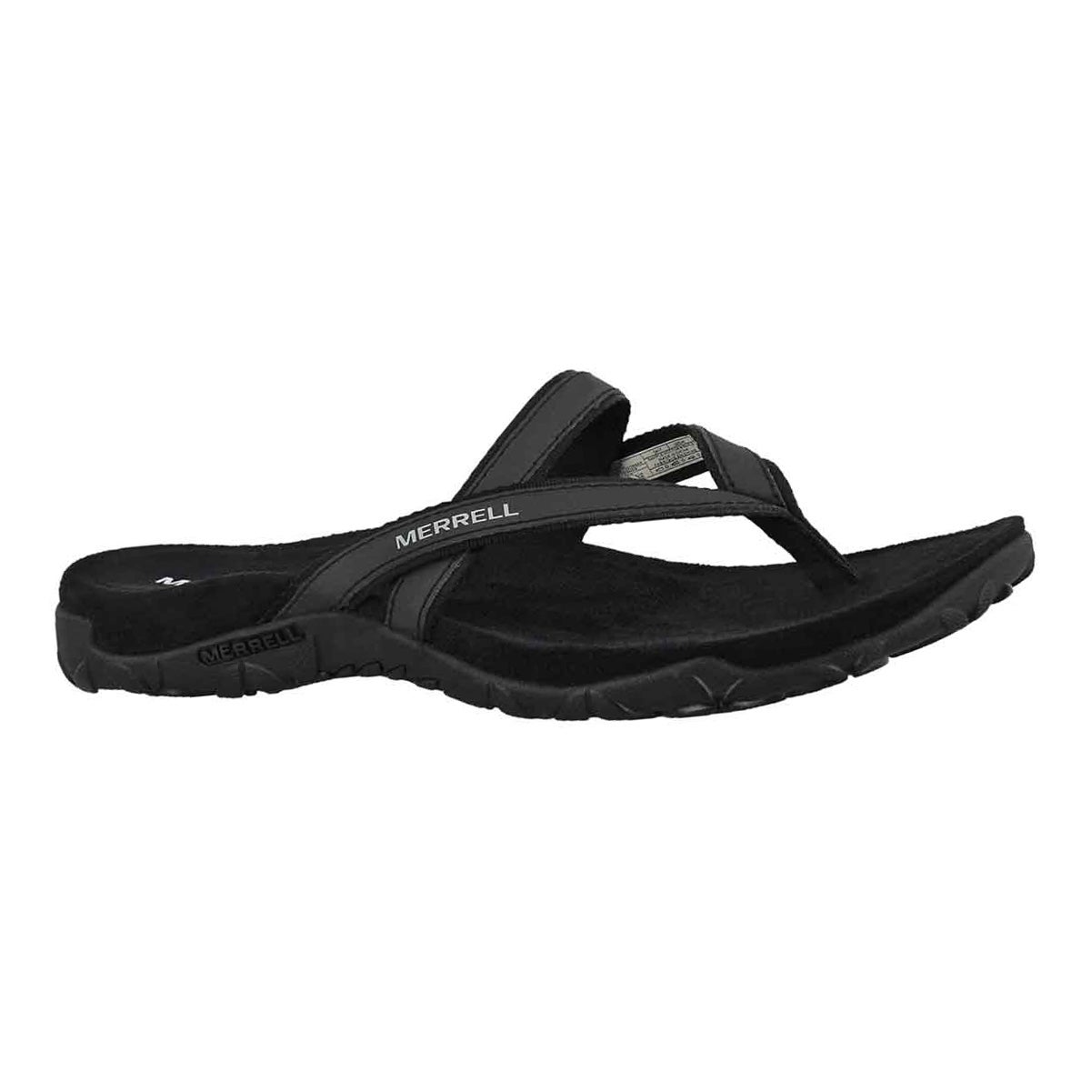 Women's TERRAN ARI POST black thong sandals