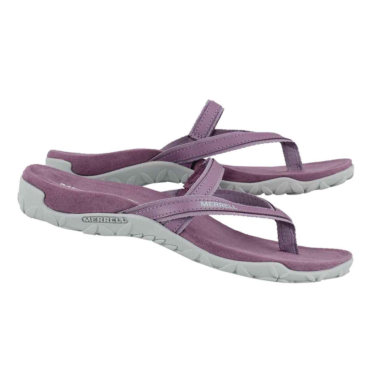 Lds Terran Ari Post grape thong sandal