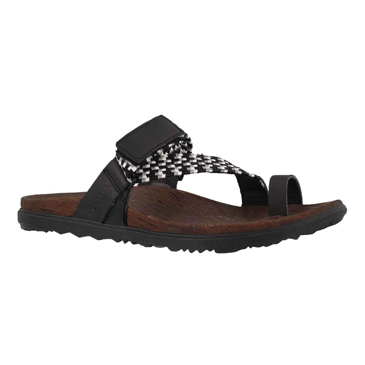 Women's AROUND TOWN SUVUE WOVEN black thong sandal