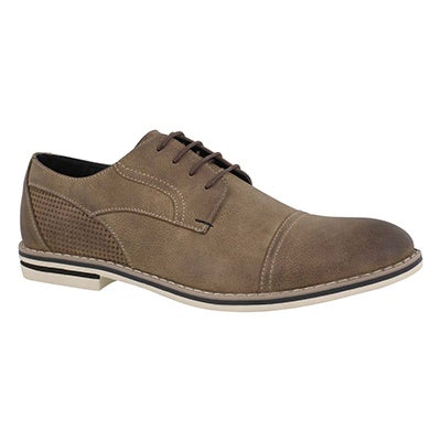 Mns Jack taupe lace up casual oxford