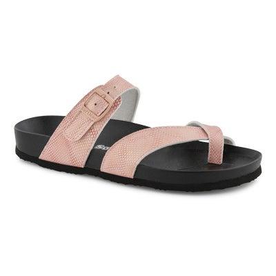 Lds Jackie-O pnk footbed sandal