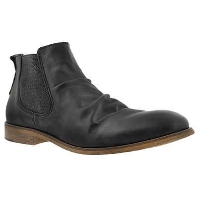 Cafeina Men's JADEN black slip on ankle boots