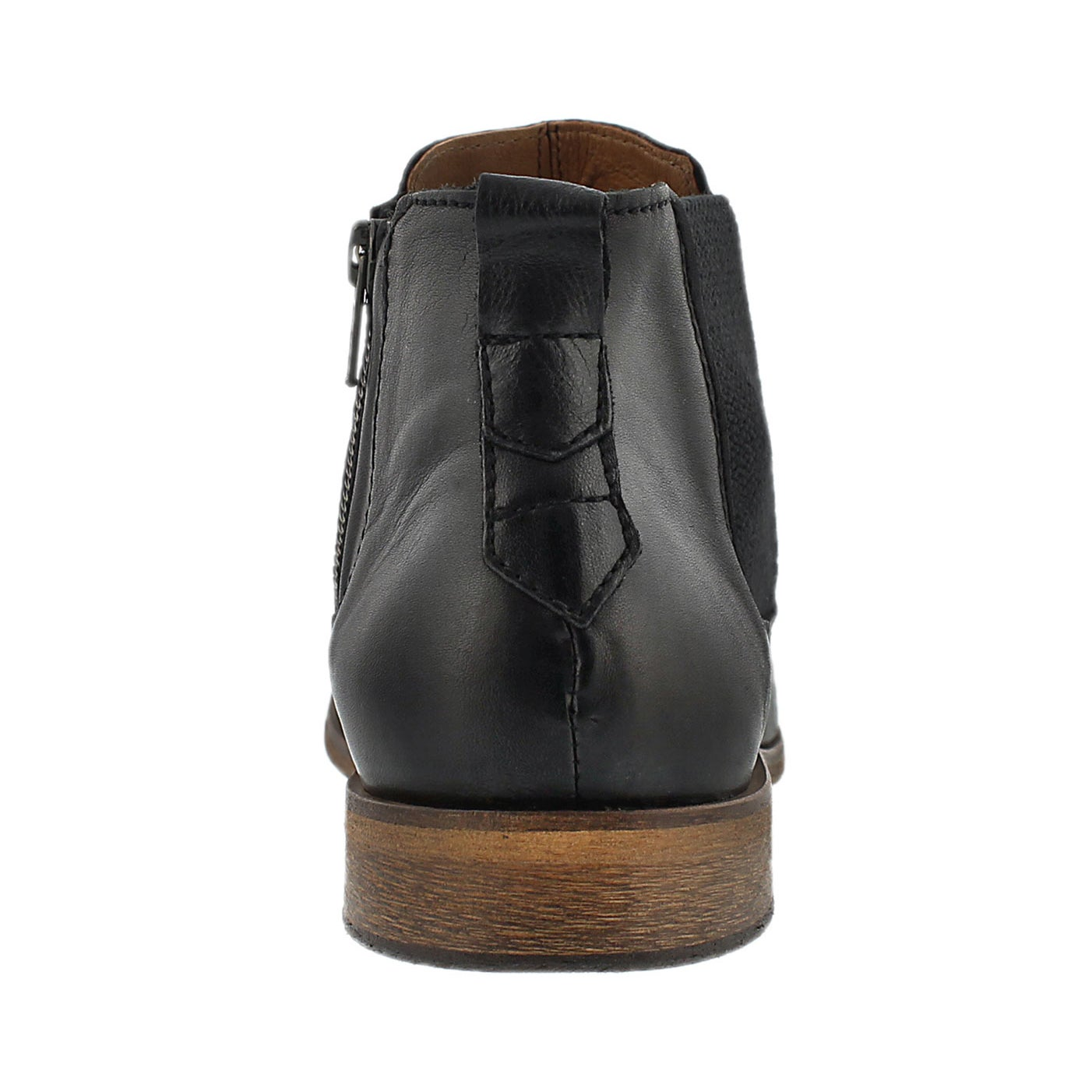 Mns Jaden black slip on ankle boot
