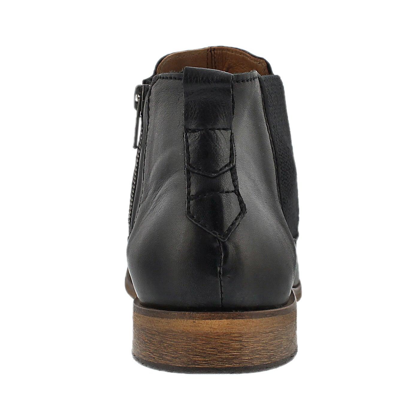 Mns Jaden black slip on ankle boot