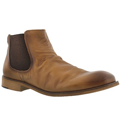 Cafeina Men's JADEN camel slip on ankle boots