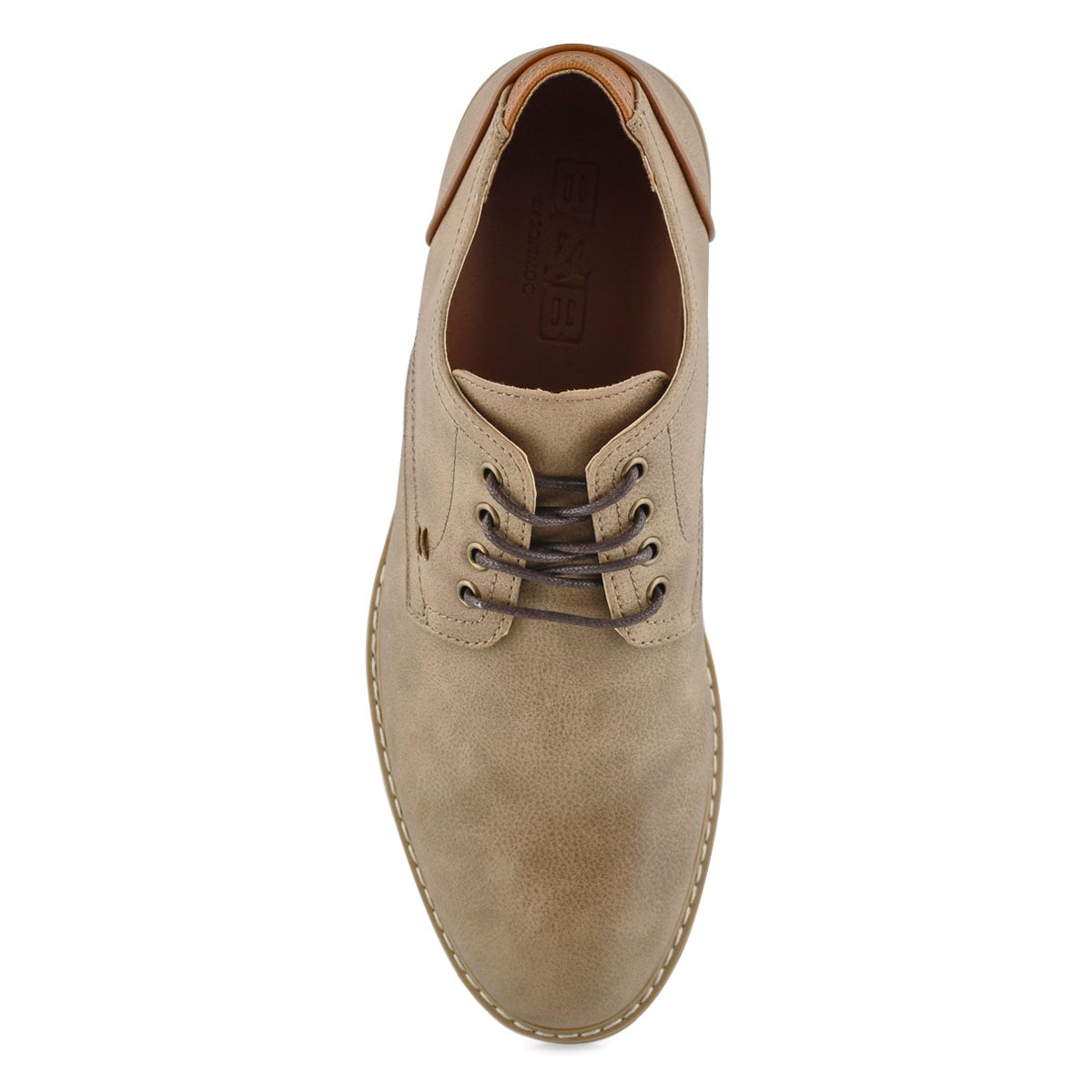 Mns Jamie taupe lace up casual oxford