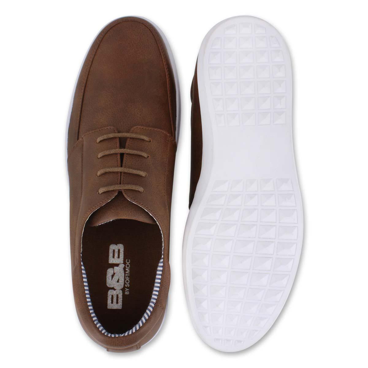 Mns Jamieson cognac casual lace up shoe