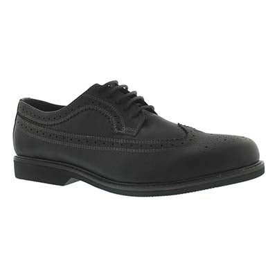 SoftMoc Men's JARED black leather dress oxfords