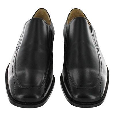 Insolito Terra Men's JASPER black leather dress slip ons