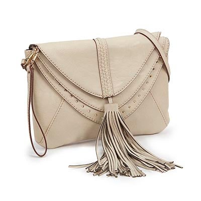 Lds JBaylee stone tassel cross body bag