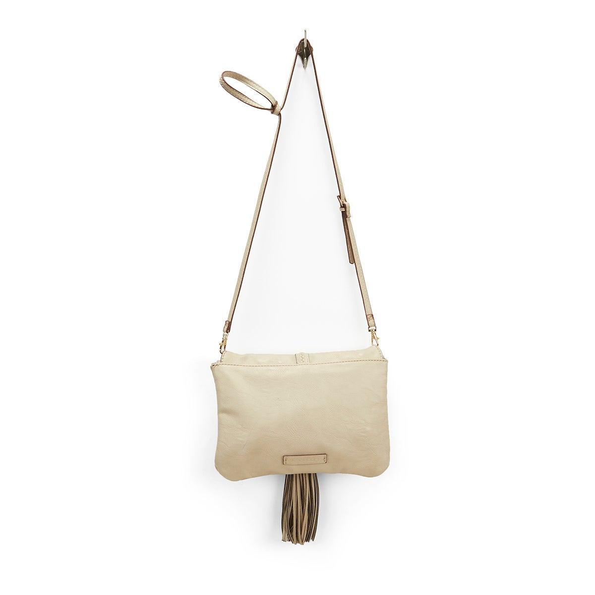Lds JBaylee stone tassel cross body bag