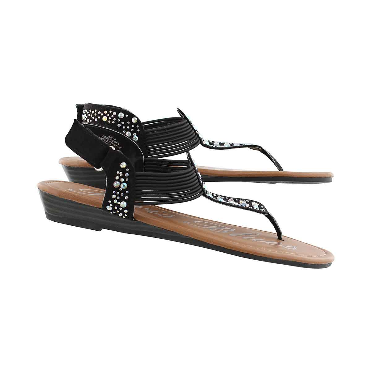 Grls Jean black t-strap sandal