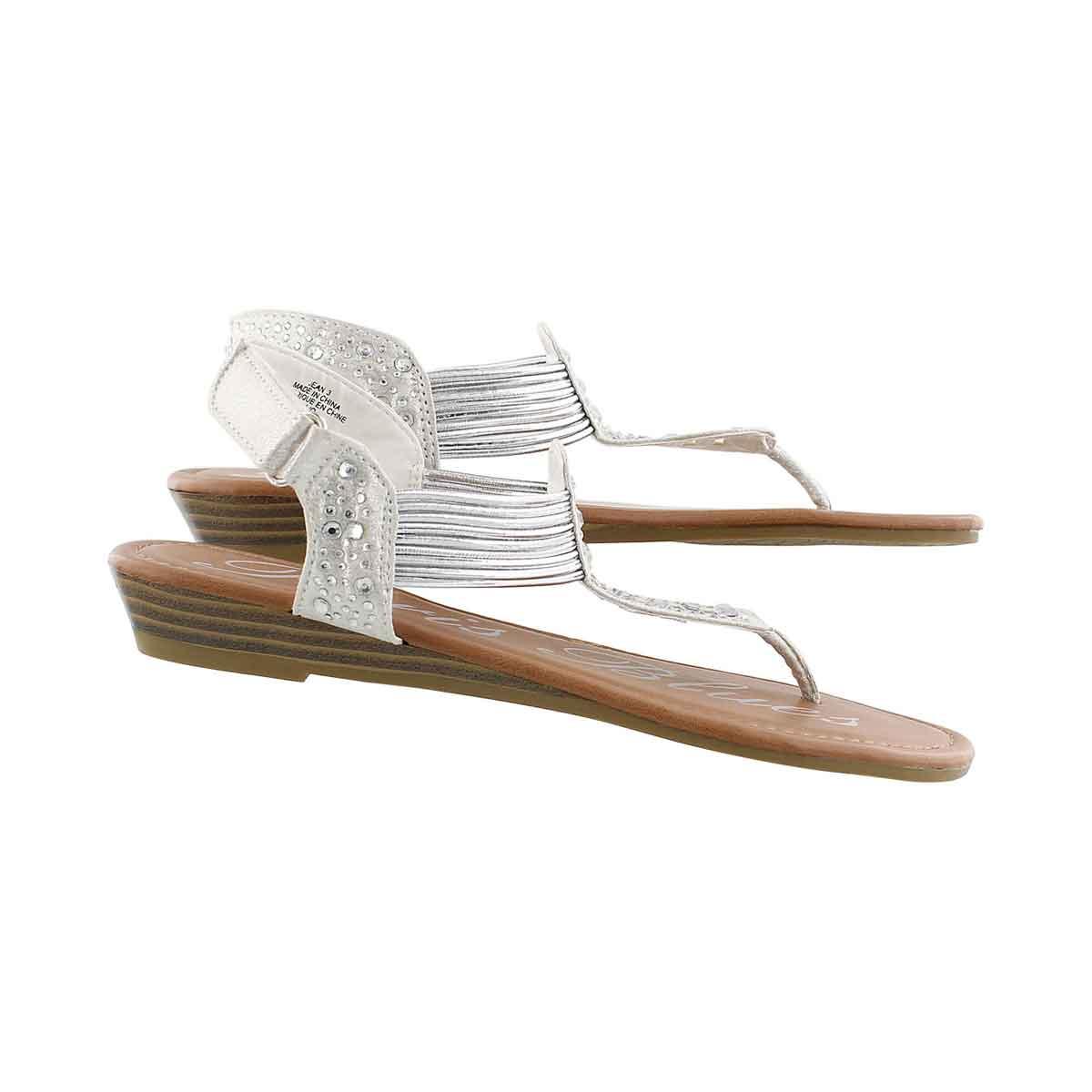 Grls Jean white t-strap sandal