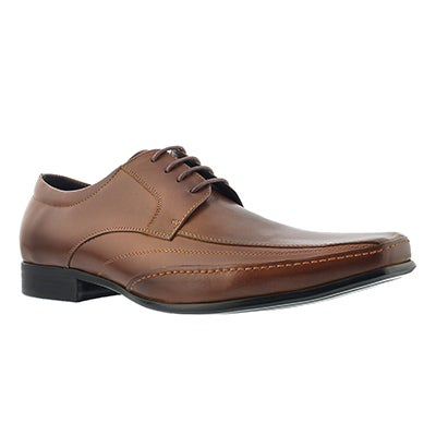 SoftMoc Men's JEFFERY cognac lace up dress oxfords