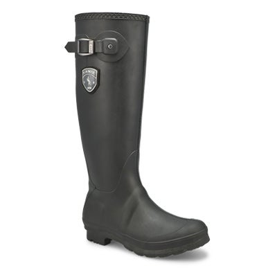 Kamik Women's JENNIFER black side buckle rain boots