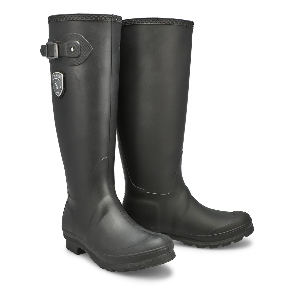 Lds Jennifer blk side buckle rain boot