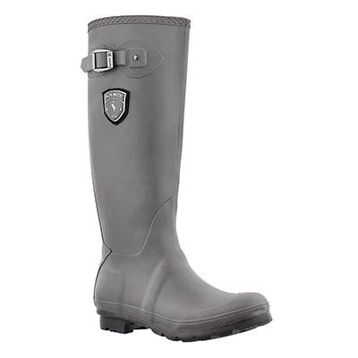 Kamik Women's JENNIFER charcoal side buckle rain boots