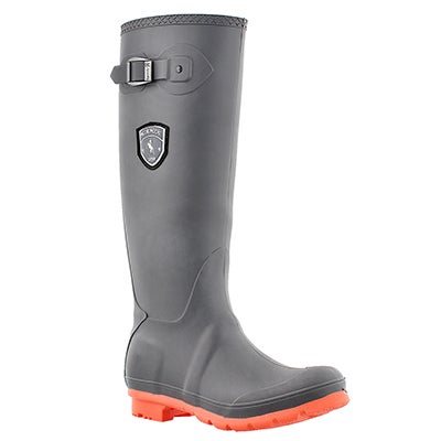 Kamik Women's JENNIFER charcoal /coral rain boots