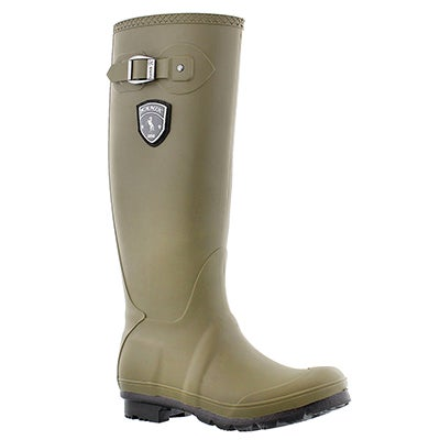 Kamik Women's JENNIFER olive side buckle rain boots