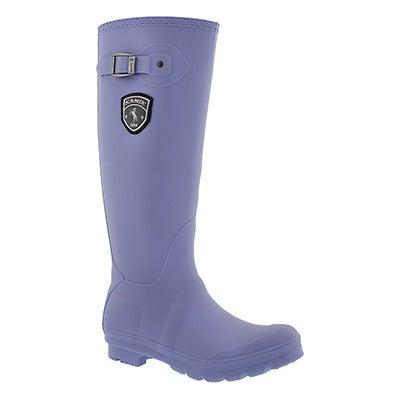 Kamik Women's JENNIFER periwinkle side buckle rain boots
